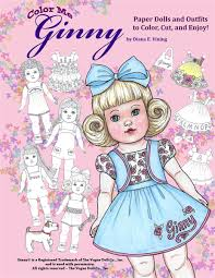Color Me Ginny Paper Doll Coloring Book