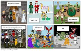 Monsters And Myths Storyboard By Vbn31