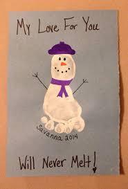 Snowman Footprint Art Project For Kids My Love Will Never Melt