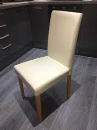 4x Cream Faux Leather Dining Chairs | In Kilmaurs, East Ayrshire | Gumtree Cream Faux Leather Ding Chair With Curved Leg Crossley Single Adela Maple And Lpd Padstow Chairs Pair Brown Or Red Faux Leather Ding Chairs Antique Vintage Button Stud Detail Pack Of 2 Table Seat Set Bolero Tan Mark Harris California Simpli Home Cosmopolitan 9piece 8