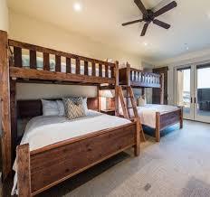 custom bunk beds full over queen rustic perpendicular designer