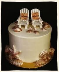 Beach Chairs Sea Shells Rustic Caribbean Cake