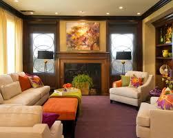 Semi Formal Small Contemporary Living Room Colorful Decor Ideas