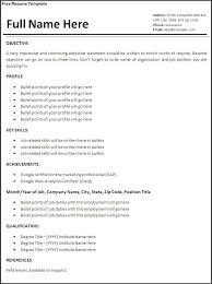 free job resume template professional job resume template