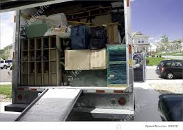 100 Packing A Moving Truck Transport Up The Box Truck With Household Belongings Ready To Travel And Move