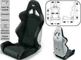 sieges semi baquet choix sièges confortables
