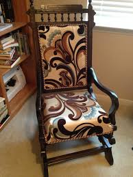 After - Eastlake Platform Rocker | Reupholster Furniture ... Spring Mechanism Stock Photos Best Rocking Chair In 20 Technobuffalo Belham Living Stanton Wrought Iron Coil Ding By Woodard Set Of Rocking Chair Archives Prodigal Pieces Platform Or Spring Collectors Weekly Buy Custom Truck Bar Stools Made To Order From Antique Victorian Eastlake Carvd Rare Oak Ah Schram Fniture Specific Rock On Loaded Swing Resort Coon Relax Chill Tables