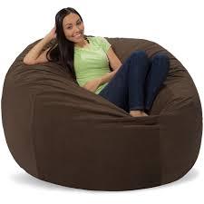 Comfy Sacks 5 Ft Memory Foam Bean Bag Chair, Dark Chocolate Pebble