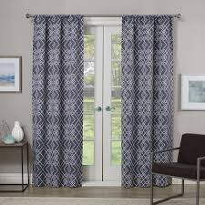 Ruffle Blackout Curtain Panels by Eclipse Blackout Ruffle Batiste Blackout White Polyester Rod