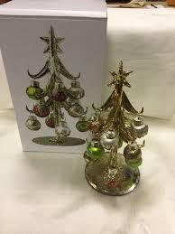 LS Arts Inc Glass Christmas Tree With 12 Ornaments