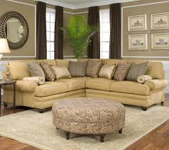 Extra Deep Couches Living Room Furniture by Living Room Traditional Sectional Sofas Cocoa Brown Top Grain