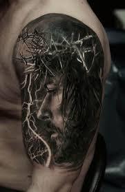 Jesus 3D Arm Tattoo Portrait