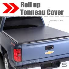 100 Lockable Truck Bed Covers Lock Roll Up Soft Tonneau Cover For 20142018 GMC Sierra 1500 58ft