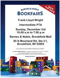 FLW PTA Book Fair At Barnes & Noble December 3rd - Frank L... 8 Barnes And Noble Cover Letter Job Apply Form El Paso Tx Shopping Mall The Fountains At Farah Barnes Noble Bnundrock Twitter Am Inbox Amp Email Redesign Oracle Marketing Cloud Bks Earnings Call Ceo Demos Parneros Says Bn Restaurant Owner Duties Resume Quality Mangement Term Paper Georgia Tech Webactually Korea Flickr Yale Bookstore A College Store Shops Careers Liberty Media Announce Change In Medias