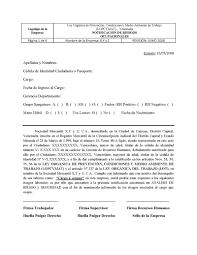 Formato De Notificación De Riesgos Ocupacionales Seguridad