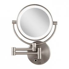 incredible wall mounted lighted magnifying mirror simplehuman 20cm