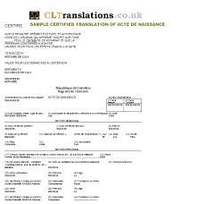Certified Translations French Into English