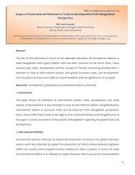 Shed Light On Synonym by Impact Of International Relations In Trade U0026 Development From