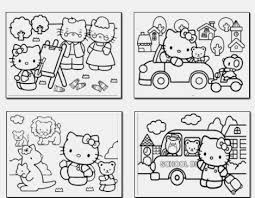 Hello Kitty Coloring Pictures In Gallery Games Book