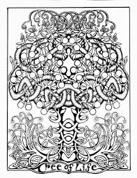 Paste And Color The Tree Of Life Coloring Page Some Celtic Fun LifeBW