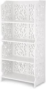 finether weißes regal stehregal standregal steckregal im barock stil für wohnzimmer badezimmer zur aufbewahrung dekoartikel toilettenartikel aus