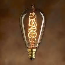 edison bulb teardrop spiral filament light bulb candelabra