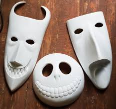 162 Best Halloween Inspiration Images by Inspired Lock Shock Barrel Masks Unpainted Nightmare Before
