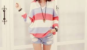 Sweater Pastel Blue Clothes Red Knitwear Amazing Knitted Jumper Cute Pink Purple Strip Striped