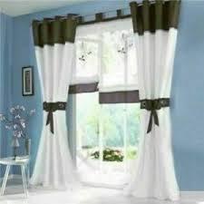 details zu vorhänge wohnzimmer deko gardinen stores schals fenstergardine ösenschals modern