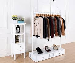 Great Clothing Shelves Wardrobe Racks Amazing Rack Of Clothes Wooden About Display Decor