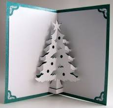 Christmas Tree Pop Up Home Decor Handmade Cut By Hand Origamic Architecture In White And Shimmery Metallic Teal Green
