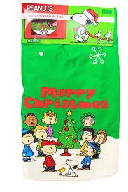 White Christmas Tree Skirt Walmart by Amazon Com Peanut Snoopy Christmas Green Tree Skirt 48 Inches