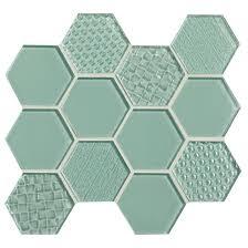 american olean color appeal entourage felicity hexagon glass