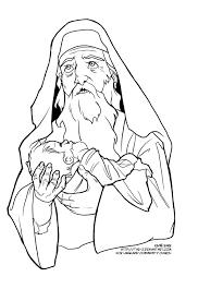 Simeon Baby Jesus Coloring Page