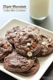 Triple Chocolate Cake Mix Cookies Classy Clutter