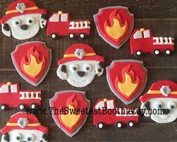100 Fire Truck Cupcake Toppers Paw Patrol Marshall Fighter Birthday Etsy