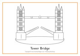 Tower Bridge Colouring Page 2