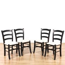 4 Shabby Chic Black & Cream White Dining Chairs | Loveseat ... Roseberry Shabby Chic French Country Cottage Antique Oak Wood And Distressed White 7piece Ding Set Four Stripy White Blue Shabbychic Ding Chairs Hand Painted Finished In Woking Surrey Gumtree Table Chairs Best Of Ripley Chair Pine Round Room Height Lights Ballad Decoration Tables Balloon Back Antique White French Chic Ornate Ding Table Set With Decor Cozy Slipcovers For Inspiring Interior My Home Room Ideas Chic Diy Shabby Chrustic Chair Basil Chaise