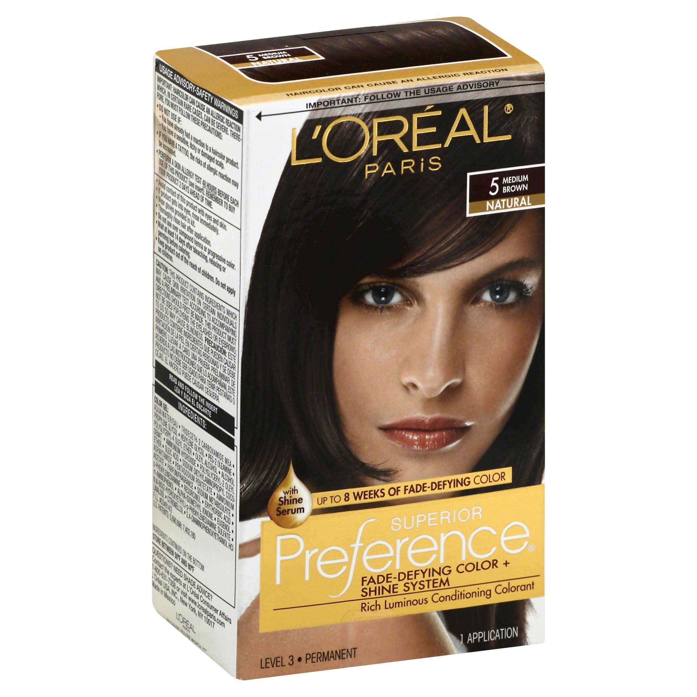 L'Oréal Paris Superior Preference Natural Haircolor - 5 Medium Brown