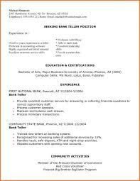 Entry Level Bank Teller Resume From Sample Creative Position For Interview Tips How