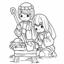 Nativity Coloring Pages Joseph And Mary