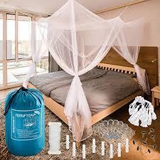 freiluftraum moskitonetz für doppelbetten mit vier öffnungen