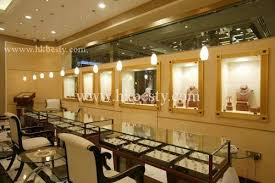 Custom Made LED Jewelry Display Case Watch Counter And Babinet In Store