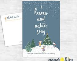 Eby Pines Christmas Trees Hours by Let Heaven U0026 Nature Sing A2 Note Card Boxed Set