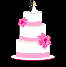 White Wedding Cake Bride Groom