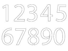 Printable Number 1 Stencil