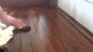 Dog Urine Hardwood Floors Stain by Blending Oak Wood Floors Without Sanding With Stain Youtube