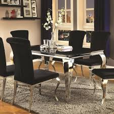 Value City Kitchen Table Sets by Coaster Carone Contemporary Rectangular Dining Table Value City