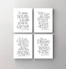 Harry Potter Prints Albus Dumbledore Quote Set Of 4 Inspirational