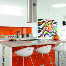 Kitchen Wall Colors Kitchens With Orange Color Scheme